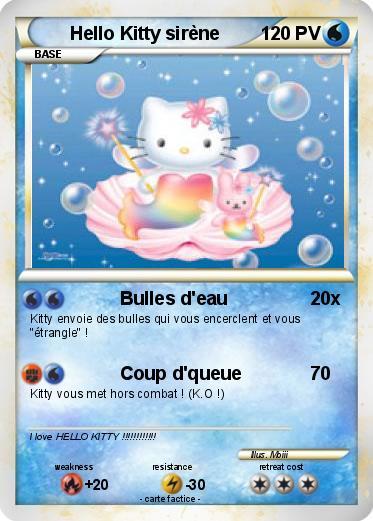 Pok mon hello kitty sirene 3 3 bulles d 39 eau ma carte - Hello kitty sirene ...