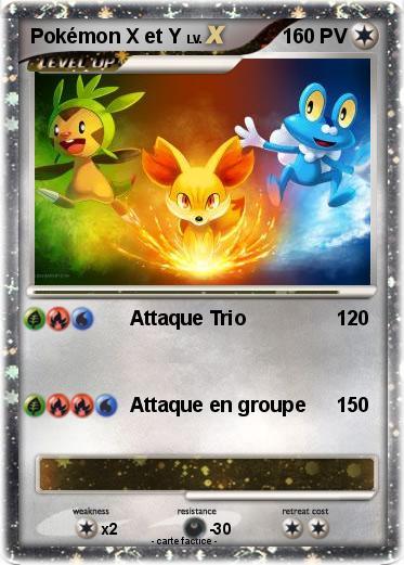 Pok mon pokemon x et y 1 1 attaque trio ma carte pok mon - Pokemon x et y legendaire ...