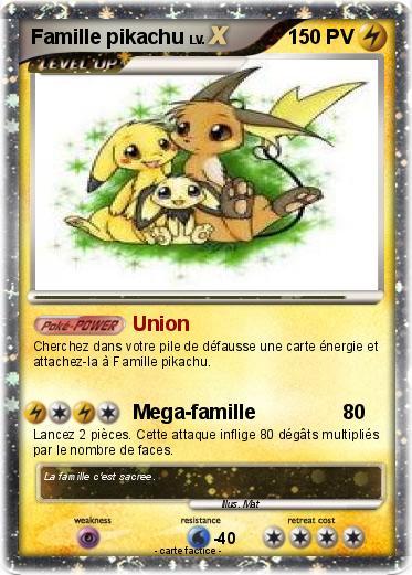 Pok mon famille pikachu 5 5 union ma carte pok mon - Pokemon famille pikachu ...