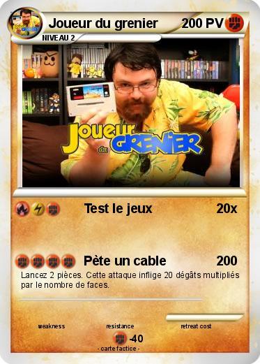jeu de carte joueur du grenier Pokemon Joueur du grenier 150