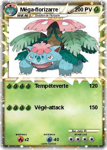 Pok mon mega florizarre 17 17 temp teverte ma carte - Mega florizarre ...