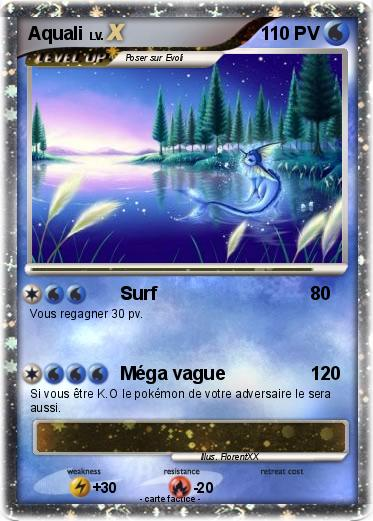 Pok mon aquali 172 172 surf ma carte pok mon - Carte pokemon aquali ...