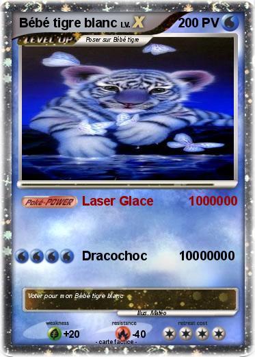 Pok mon bebe tigre blanc 5 5 laser glace 1000000 ma - Bebe tigre mignon ...