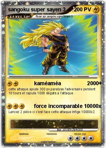 Pok mon sangoku super sayen 3 50 50 kam am a 2000 ma carte pok mon - Sangoku super sayen 3 ...