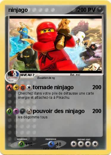 Pok mon ninjago 127 127 tornade ninjago ma carte pok mon - Carte ninjago ...