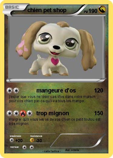 Pok mon chien pet shop mangeure d 39 os ma carte pok mon - Chien pet shop ...