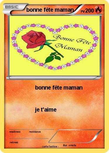 Pok mon bonne fete maman 4 4 bonne f te maman ma carte pok mon - Carte a imprimer bonne fete maman ...