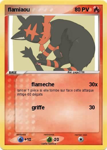 Pokemon Flamiaou 61
