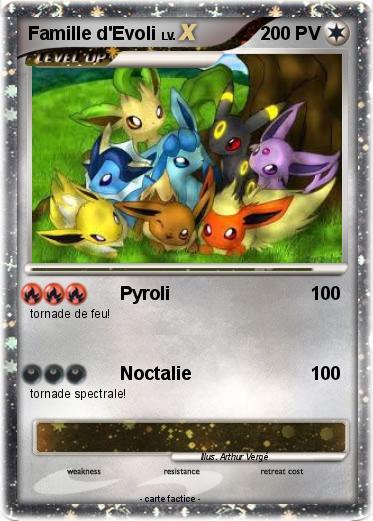 Pok mon famille d evoli 24 24 pyroli ma carte pok mon - Famille evoli pokemon ...