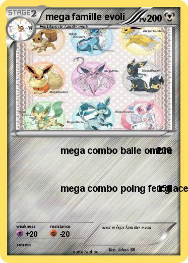 Pok mon mega famille evoli mega combo balle ombre ma carte pok mon - Famille evoli pokemon ...