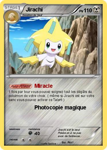 Pok mon jirachi 1210 1210 miracle ma carte pok mon - Carte pokemon jirachi ...