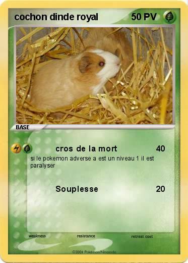 Pok mon cochon dinde royal cros de la mort ma carte - Cochon pokemon ...