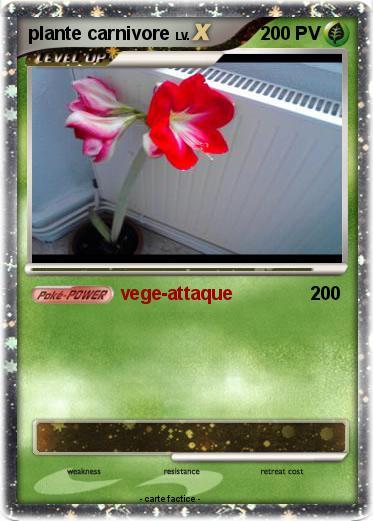 pok mon plante carnivore 39 39 vege attaque ma carte pok mon. Black Bedroom Furniture Sets. Home Design Ideas