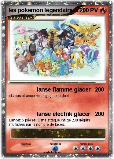 Pok mon les pokemon legendaire 4 4 lanse flamme glacer - Pokemon legendaire ...