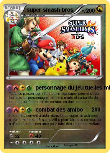 Pok mon super smash bros 144 144 personnage du jeu tue - Tous les personnages mario kart wii ...