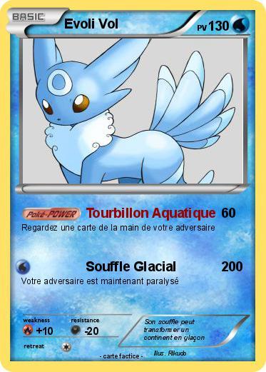 Pok mon evoli vol tourbillon aquatique ma carte pok mon - Rikudo a imprimer ...