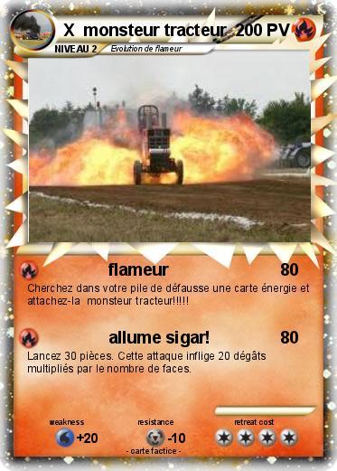 Pok mon x monsteur tracteur flameur ma carte pok mon - Le tracteur tom ...