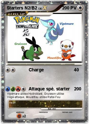 Pokemon Starters N2 B2