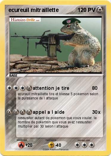 Pokemon ecureuil mitraillette