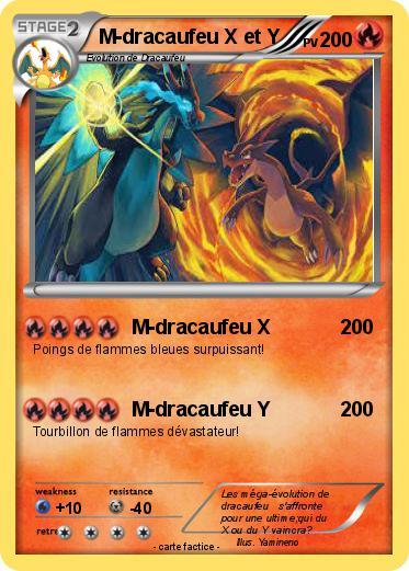 Pok mon m dracaufeu x et y 3 3 m dracaufeu x ma carte - Evolution de dracaufeu ...
