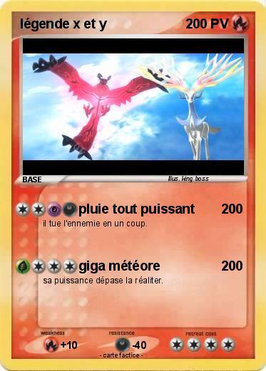 Pok mon legende x et y pluie tout puissant ma carte - Pokemon x et y legendaire ...