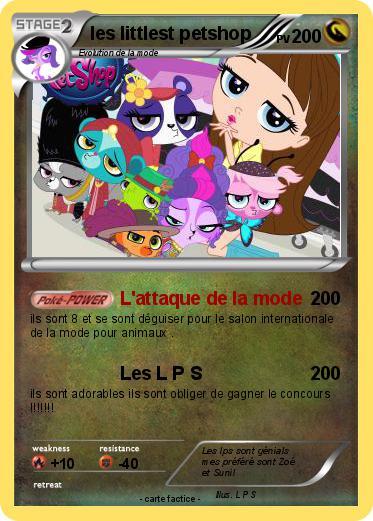 Pok mon les littlest petshop l 39 attaque de la mode ma carte pok mon - Petshop cheval ...