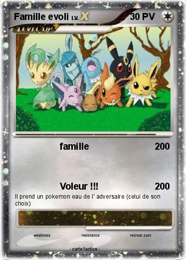Pok mon famille evoli 31 31 famille ma carte pok mon - Famille evoli pokemon ...