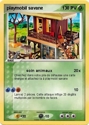 Pok mon playmobil savane soin animaux ma carte pok mon - Playmobile savane ...