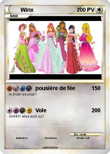Pok mon winx 55 55 pousi re de f e ma carte pok mon - Carte pokemon fee ...