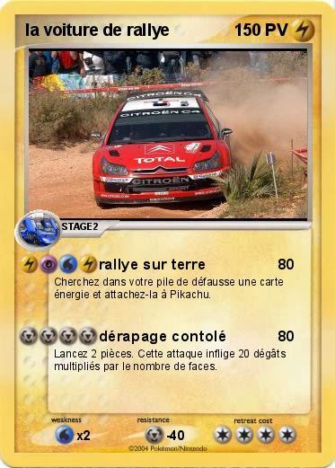 Pok mon la voiture de rallye rallye sur terre ma carte - Coloriage voiture de rallye ...
