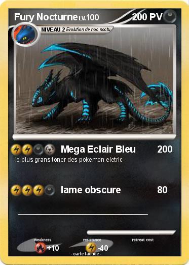 Pok mon fury nocturne 5 5 mega eclair bleu ma carte - Fury nocturne ...
