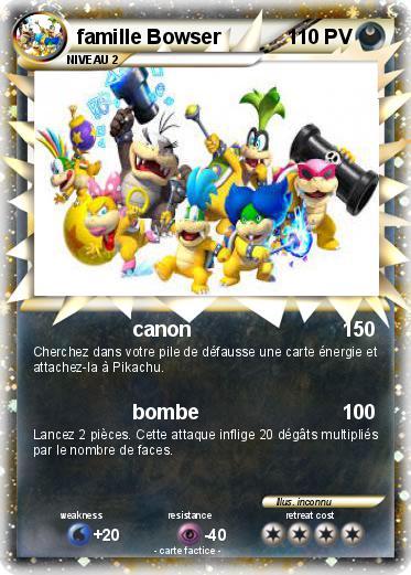 Pok mon famille bowser 1 1 canon ma carte pok mon - Pokemon famille pikachu ...