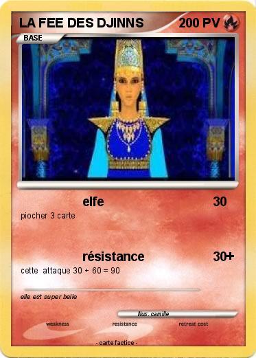 Pok mon la fee des djinns elfe ma carte pok mon - Carte pokemon fee ...
