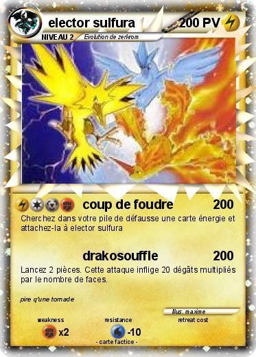 Pok mon elector sulfura 10 10 coup de foudre ma carte - Carte pokemon electhor ex ...