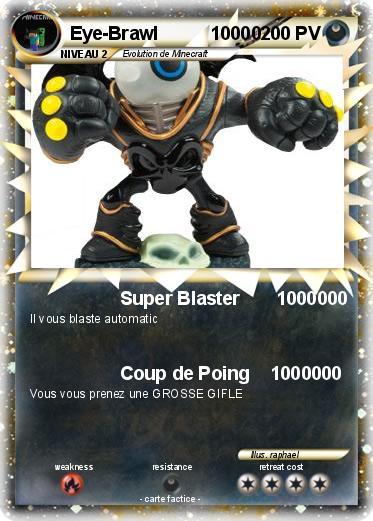 Pok mon eye brawl 10000 10000 super blaster 1000000 ma carte pok mon - Coloriage eye brawl ...