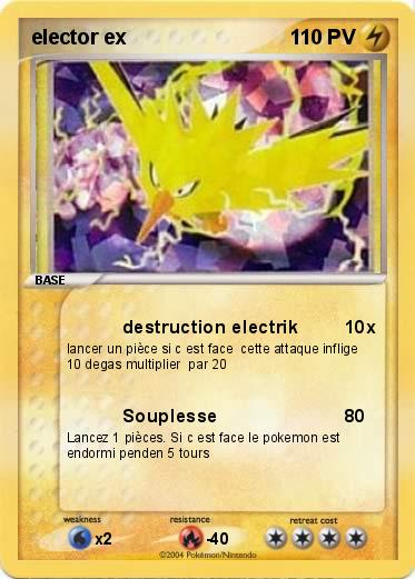 Pok mon elector ex 11uoh destruction electrik ma carte pok mon - Elector pokemon x ...