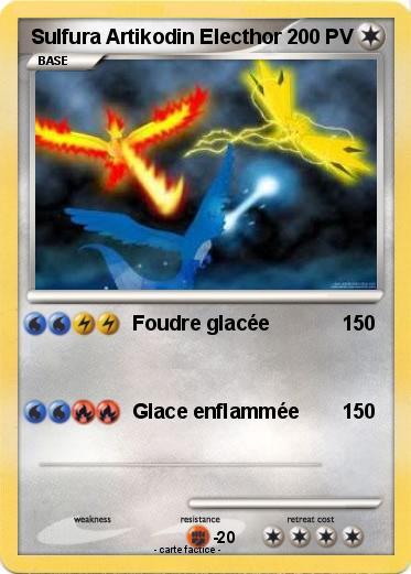 Pok mon sulfura artikodin electhor 2 2 foudre glac e - Coloriage pokemon sulfura ...