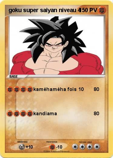 Pokemon Goku Super Saiyan Niveau 4