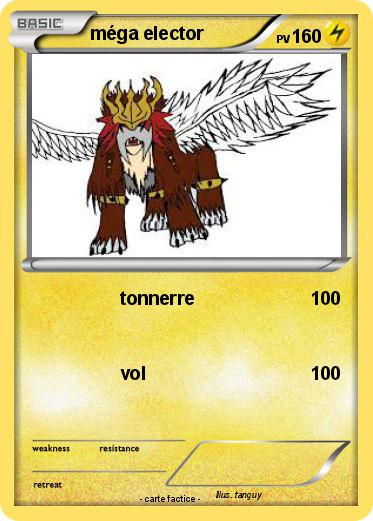 Pok mon mega entei 2 2 tonnerre ma carte pok mon - Elector pokemon x ...