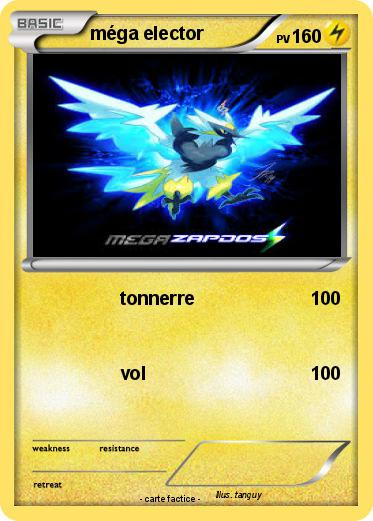 Pok mon mega elector 1 1 tonnerre ma carte pok mon - Elector pokemon x ...
