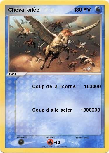 Pok mon cheval ailee 1 1 coup de la licorne 100000 ma carte pok mon - Coloriage licorne ailee ...