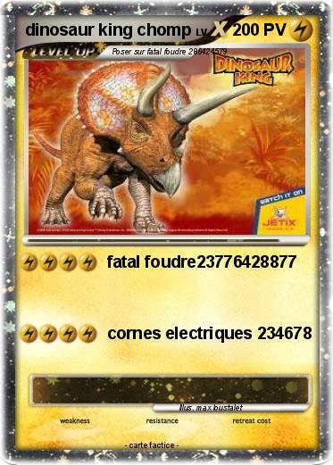 Pok mon dinosaur king chomp fatal foudre23776428877 ma carte pok mon - Carte dinosaure king ...