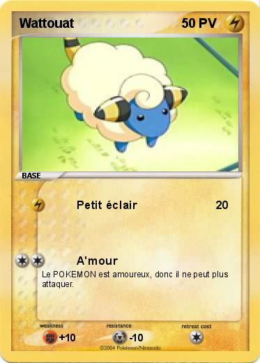 Pok mon wattouat 3 3 petit clair ma carte pok mon - Pokemon wattouat ...