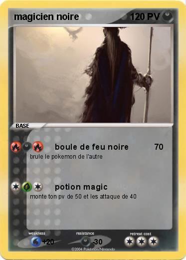 Pok mon magicien noire boule de feu noire ma carte pok mon - Pierre feu pokemon noir ...