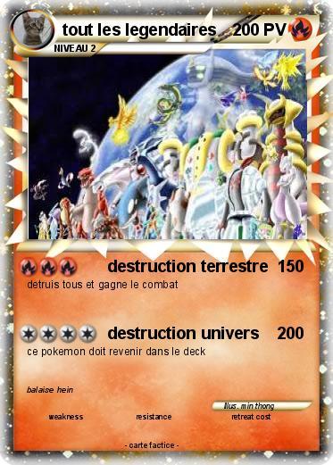 Pok mon tout les legendaires 2 2 destruction terrestre ma carte pok mon - Tout les dessin a imprimer ...
