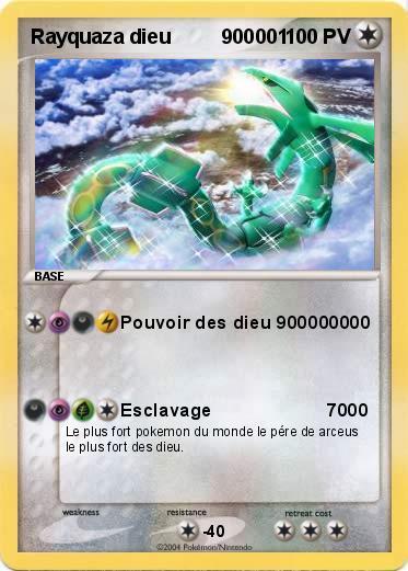 Pok mon rayquaza dieu 900001 900001 pouvoir des dieu - La plus forte carte pokemon du monde ...