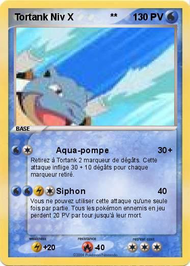 Pok mon tortank niv x 4 4 aqua pompe ma carte pok mon - Tortank pokemon y ...