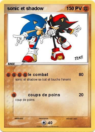 Pok mon sonic et shadow 22 22 le combat ma carte pok mon - Sonic et shadow ...