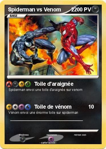 Pok mon spiderman vs venom 2 2 toile d 39 araign e ma carte pok mon - Coloriage spiderman et venom ...