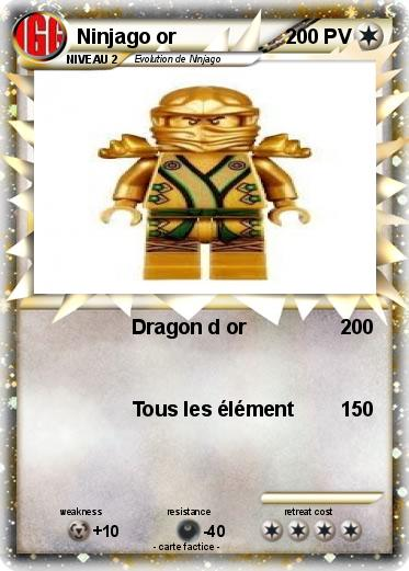 Pok mon ninjago or dragon d or ma carte pok mon - Ninjago dragon d or ...